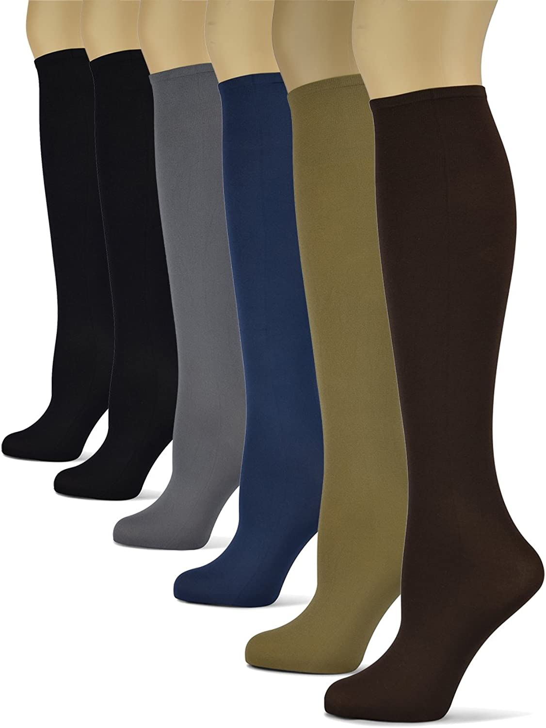Silky Smooth Knee High Socks Trouser Socks by Sox Tred   Thin Material   Black, Brown, Grey, Navy, Taupe, Red, Purple, Teal