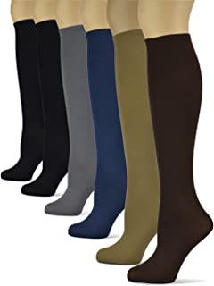 Silky Smooth Knee High Socks/Trouser Socks by Sox Trot   Thin Material   Black, Brown, Grey, Navy, Taupe, Red, Purple, Teal