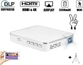Mini proyector de 2000 lúmenes, 4K DLP 854 x 480p