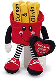 burton+BURTON Personalized Valentine`s Day I Only Have Fries for You Plush Stuffed Animal Toy for Boys or Girls Valentine ...