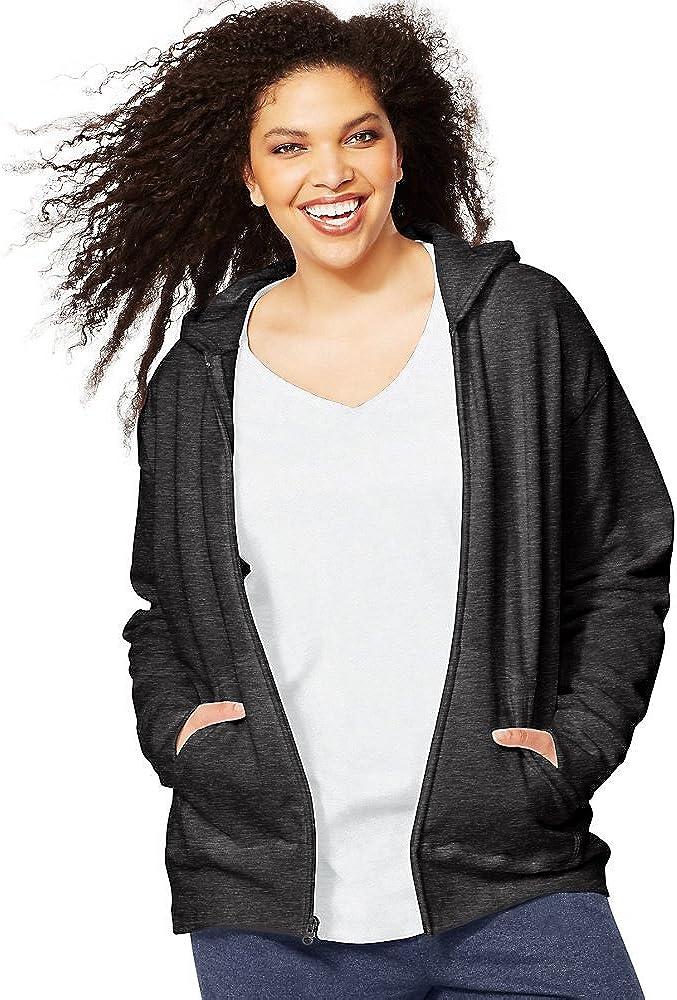 Just My Size by ComfortSoft EcoSmart Fleece Full-Zip Women's Hoodie_Slate Htr_3XL
