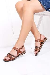 TARÇIN Hakiki Deri Kadın Sandalet Ayakkabı TRC124-K1000