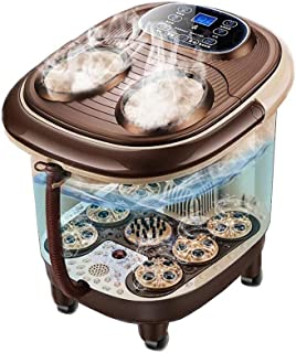 Luxury Foot Bath Spa with Water Heater Keep Warm Bubbles Soothing Soak Massage Nodes with Salts and Oils Home Use