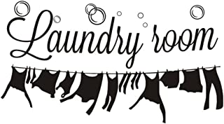 Easma Laundry Decor Laundry Room Wall Decal Quotes Wall Decorations Black 12.2