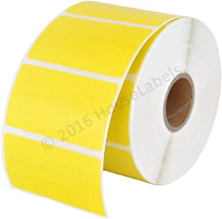 """Zebra/Eltron Compatible 2.25"""" x 1.25"""" Yellow Direct Thermal Labels - 28 Rolls; 1,000 per Roll - 2.25 x 1.25 Labels (2-1/4"""" x 1-1/4"""") - BPA Free!"""