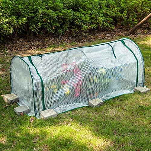 Mini Invernadero De Jardín Impermeable Marco Acero De Plantas Tunel Invernadero Huerto Acero Polietileno PE,Carpas De Invernadero (Color : White, Size : 70x50x70cm)