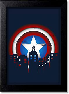 Blue Nexus Captain America Superhero Wall Poster with Wall Frame Wall Stickers Room Art Poster Painting (Get 25% Off on Bu...
