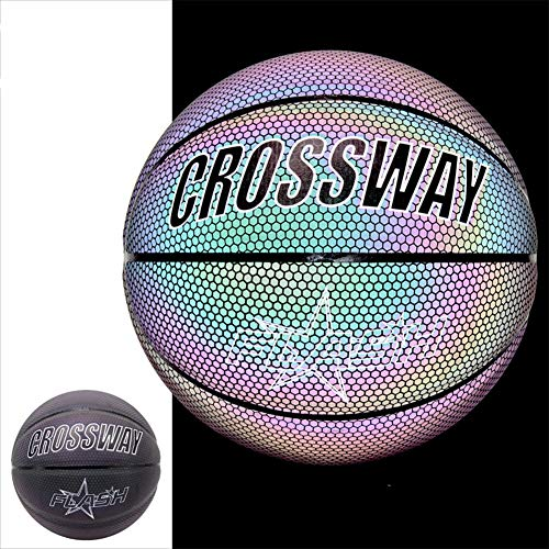 Lowest Price! DUTUI Luminous Reflective Size 7 Basketball, Standard Size, Handmade Special Leather, ...