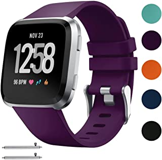 Silicone Replacement Sport Loop Strap Wrist Band for Fitbit Versa Fitness Watch Small