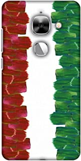 AMZER Slim Fit Handcrafted Designer Printed Snap On Hard Shell Case Back Cover for Leeco Le Max 2 - Italy Flag- Brush Strokes HD Color, Ultra Light Back Case