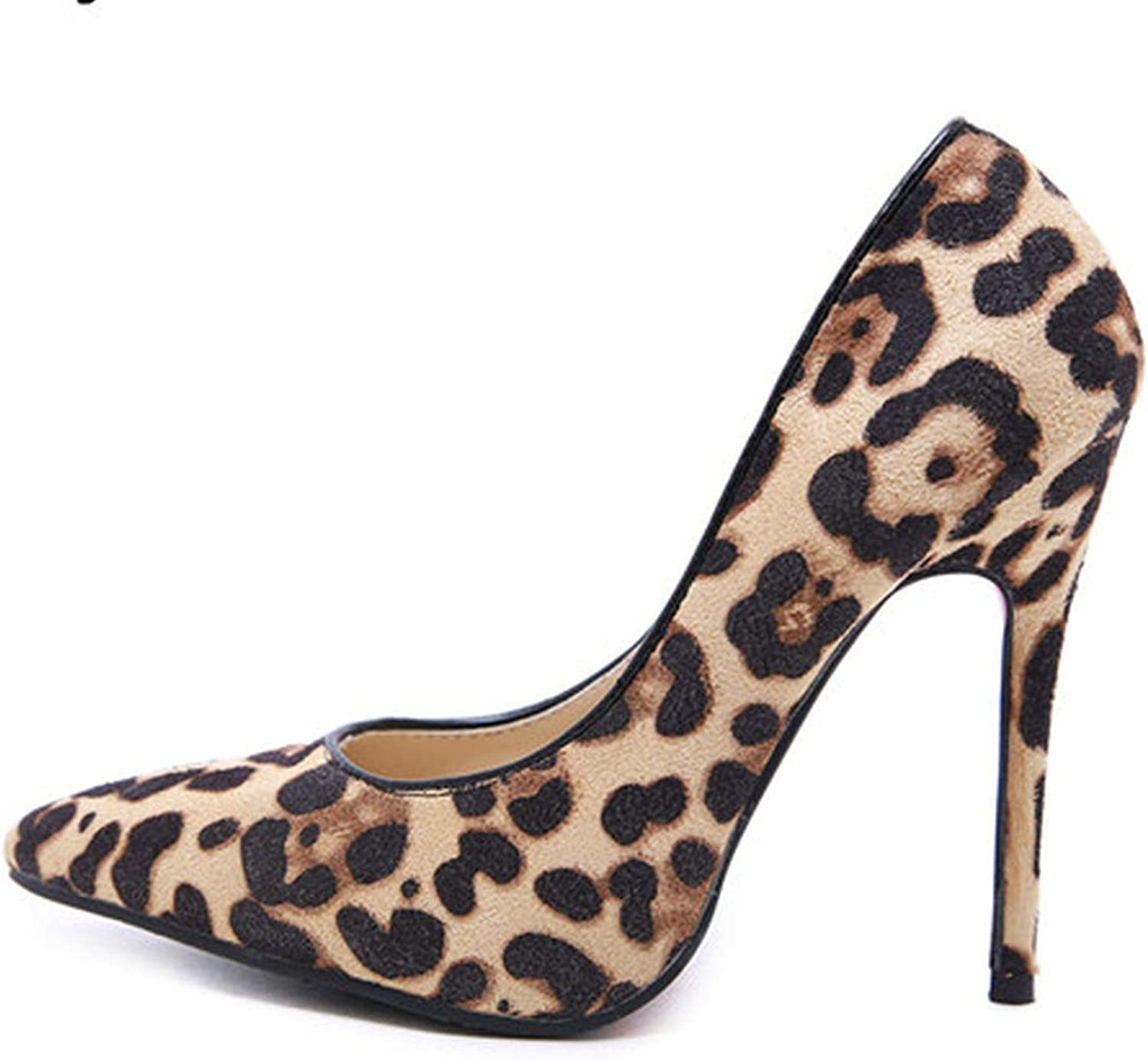 Youthern Leopard Grain Women shoes Sexy Pointed Toe High Heels 12Cm Summer Party Pumps Wedding shoes