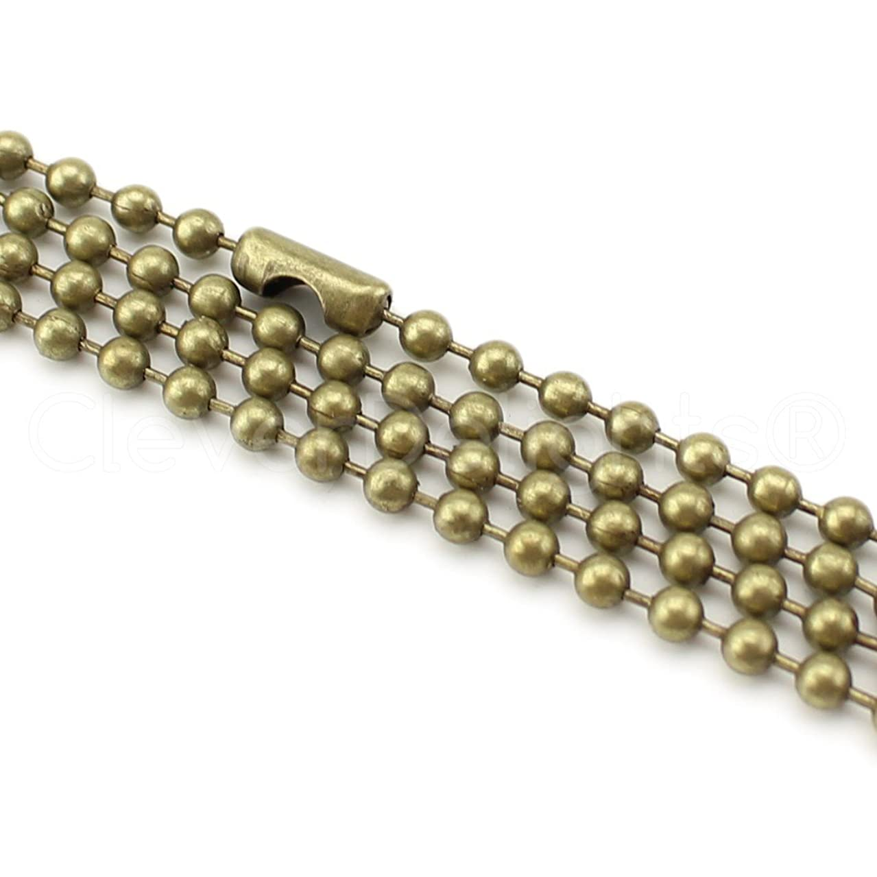 CleverDelights 10 Pack Ball Chain Necklaces - 24