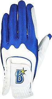 LEZAX(レザックス) ゴルフグローブ 横浜DeNAベイスターズ ワンサイズ ゴルフグローブ YBGL-7657 ホワイト×ブルー
