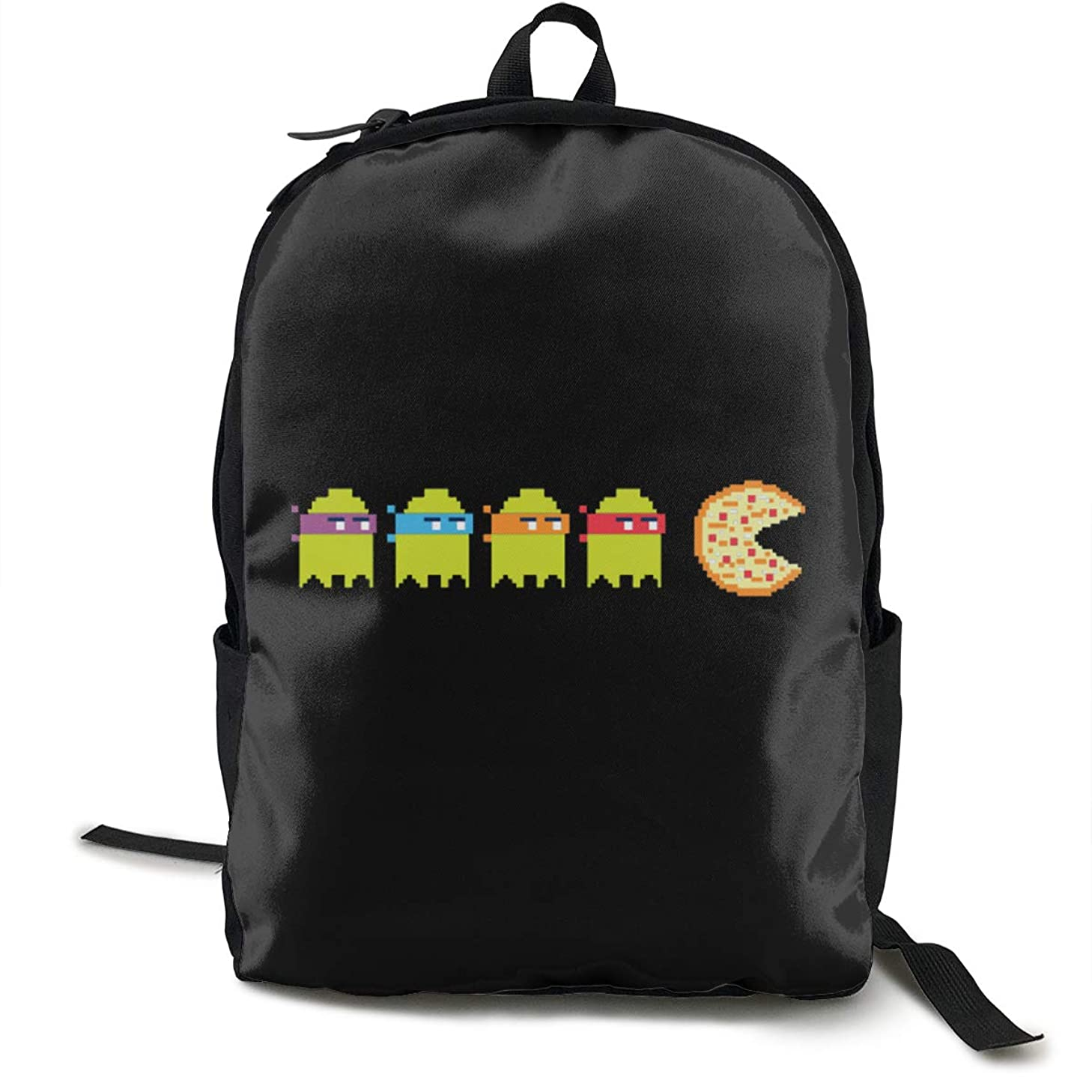 Pac Cute Ninja Turtle Eat Pizza 2019 New Style Casual Shoulders Multipurpose Backpack School Backpack Travel Rucksack Bag Laptop Daypack For Youth Men And Women