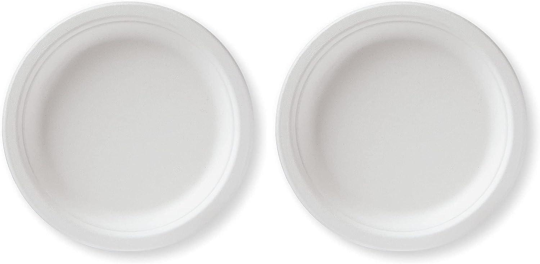 Susty Party 7-Inch Compostable Sugarcane Plates 人気ショップが最安値挑戦 早割クーポン 50-Count Heav