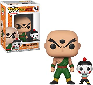 Tien & Chiaotzu: Dragonball Z x Funko POP. Animation Vinyl Figure & 1 PET Plastic Graphical Protector Bundle [# 384 / 32254 - B]