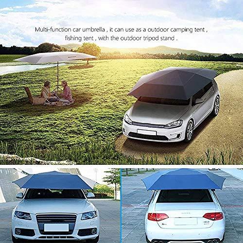 JZLPY Auto Zelt Regenschirm, automatische Anti-UV Auto Zelt Movable Carport Gefaltete Tragbarer Autoschutz Auto Regenschirm Sunproof