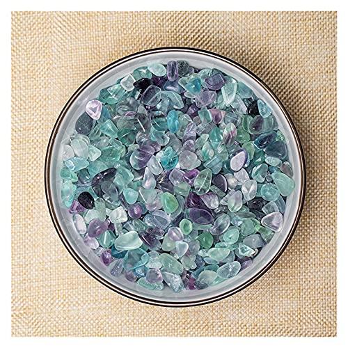 YSJSPOL Piedras y Cristales Amatista Natural Irregular Degaussing Piedra Ornamental Fluorita Cristal Cuarzo Lapis Lazuli Pecado Tanque Gravedad Decoración 100 g/Bolsa (Color : Fluorite)
