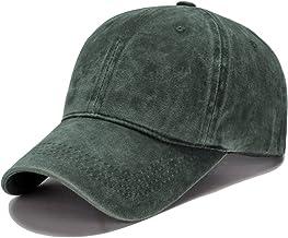 Roffatide Unisexo Lavado Sarga Algodón Gorra de Béisbol Vintage Ajustable Sombrero de Visera