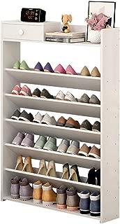 TZAMLI Large-Capacity Shoe Rack, six-Layer Large Storage Shoe Rack with Drawers for Storing Items, Telephones, Keys, Umbrellas, etc. (White)
