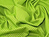 Spotty, Baumwolle, Canvas-Stoff –, Meterware, Lime Green