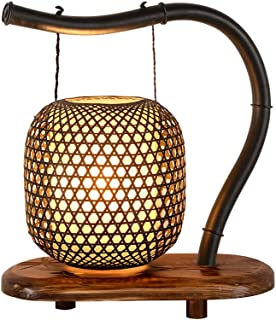 Haodan electronics Creative Bamboo Classical Japanese Zen Lamp, Solid Wood Living Room Bedroom Bedside Lamp Retro Study New Chinese Table Lamp (Size : Big)
