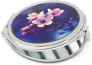 Resina specchio SAKURA Giappone ciliegio fiore blu rosa rosa viola metallo placcato argento regali regalo di Natale amico ...