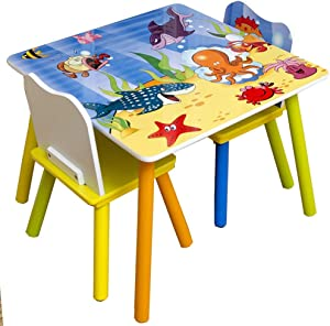 EXCLVEA-TCS Baby Activity Table- Kids Furniture Table And Chair Set For Reading Play-Room Classroom Toddler Activity Chair Baby Play Table  Color Blue  Size 59x44 50x32cm