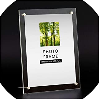 Clear Paper Photo Frame Modern Picture Frame Holder Rectangle Wedding Photo Frames for Picture 6/7/8/10/12 Inch, 6 inch