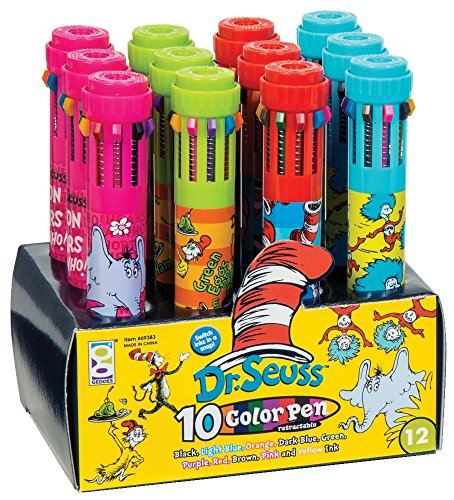 Raymond Geddes Dr. Seuss 10 Color Pen, 12 Pack (69383)