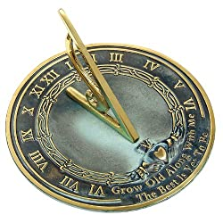 Give your husband a tin sundial for your 10th anniversary