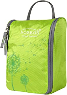 a787ce0cb1 Aosbos Hanging Toiletry Bag Portable Travel Cosmetic Makeup Organizer Bag  for Women Men (Fruit Green