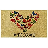 Home & More 121801729 Butterfly Welcome Doormat