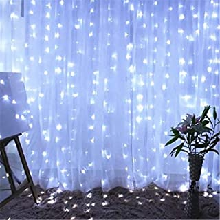 Twinkle Star 600 LED Window Curtain String Light Christmas Wedding Party Garden Bedroom..