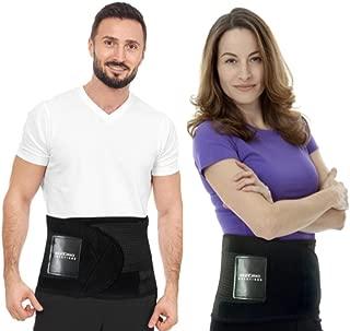 Best Back Brace Guaranteed - Back Brace Solutions Neoprene Lower Back Lumbar Support Belt Adjustable Compression Fit Back Wrap Men Women Best Braces Lower Back Pain (S-M Waist Size 27 - 34)