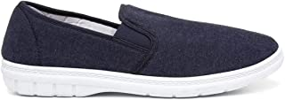 Hobos Mens Twin Gusset Canvas Shoe in Blue