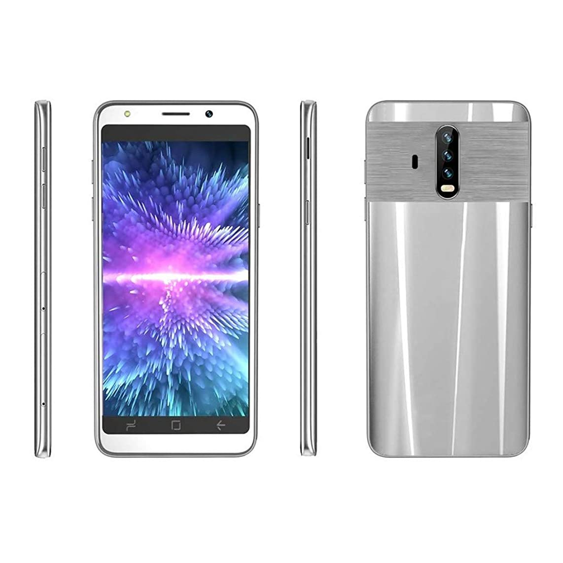 (Lowest Price Limited time Smartphone,QGhead New 5.0 inch Dual HD Camera Android 5.1 512M+4G GPS 3G Call Mobile PhoneUS US,Support up to 32GB TF Card,give 1x Earphone (Silver)