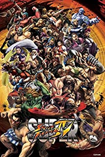 Super Street Fighter IV Characters Video Gaming Capcom Print Poster 24 by 36