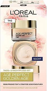 L'Oréal Paris Gesichtspflege Set, Age Perfect Golden Age, Anti-Aging Tagespflege und Nachtpflege, Festigung und Glanz, Für...