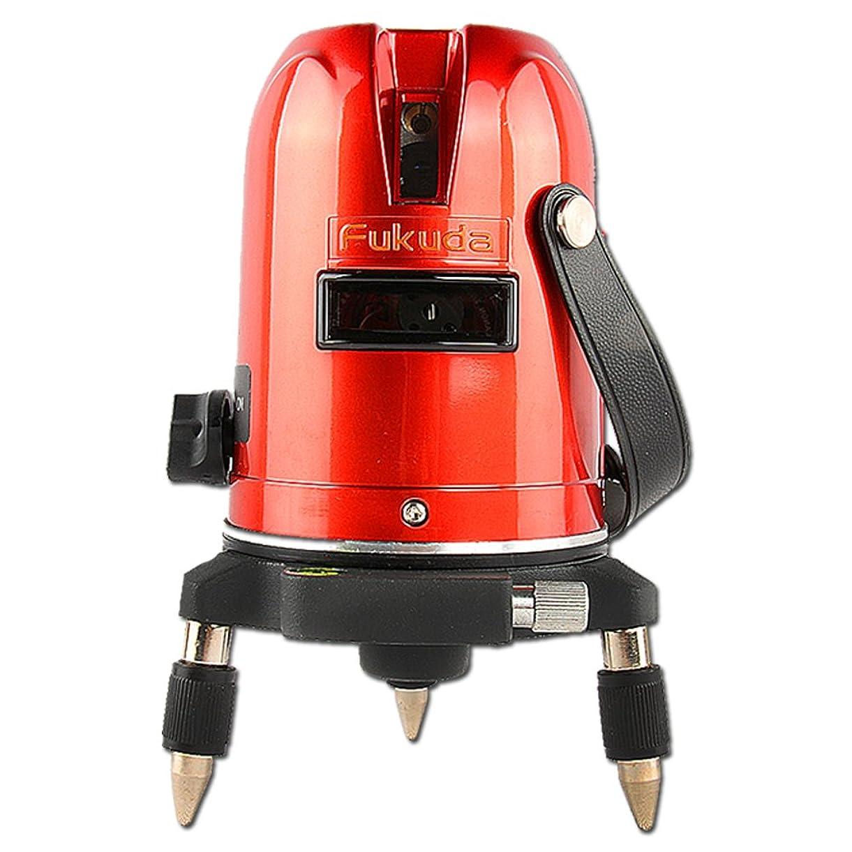 抽象矩形ワインFUKUDA フクダ 5ライン レーザー墨出し器 EK-459P 4方向大矩ライン 4垂直?1水平 墨出し器 レーザーレベル クロスラインレーザー墨出し器 測定器
