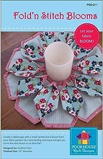 Poorhouse Quilt Designs Fold'n Stitch Blooms Ptrn