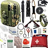 Emergency Survival kit, 65 pcs in 1 Survival Gears with First Aid Compass Knife Tactical Tools Cool...
