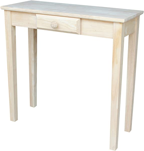 International Concepts OT 3012 Rectangular Hall Table Unfinished