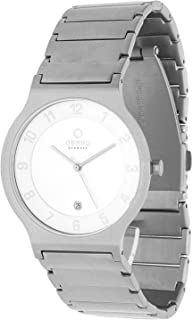 Obaku Men's Light Grey Dial Stainless Steel Band Watch - V133GCISC1
