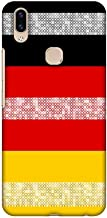 AMZER Slim Fit Handcrafted Designer Printed Snap On Hard Shell Case Back Cover with Screen Cleaning Kit Skin for Vivo V9 - Germany Flag- Shapes HD Color, Ultra Light Back Case