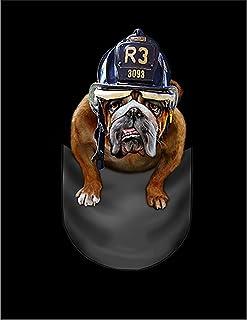 Fox Republic ブルドッグ 消防士 ポケット 犬 イエロー キッズ パーカー シッパー スウェット トレーナー 110cm