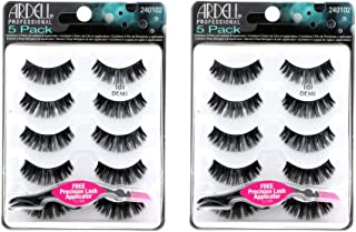 Ardell False Eyelashes Natural 101 Black, 2 pack (5 pairs per pack)