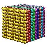 ZGHYBD M-Agnetic Balls 3 Mm, M-Agnetic Balls Fidget Toy, Alivia La Ansiedad por Estrés para Adultos, para El Aprendizaje Y El Desarrollo Intelectual (216/512/1000 Piezas) (1000PCS)