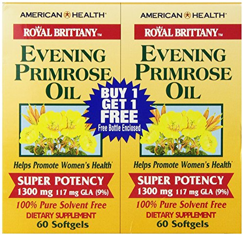 American Health Dietary Fiber Supplements, Royal Brittany Evening Primrose Oil, 120 Count