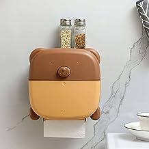 Toiletrolhouder, wandgemonteerde toiletrolhouder, van verdikt ABS-materiaal, toiletpapier opbergdoos Lade plank badkamer-b...